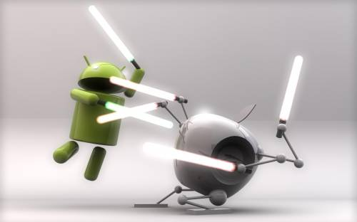 Android vs Apple - 3D