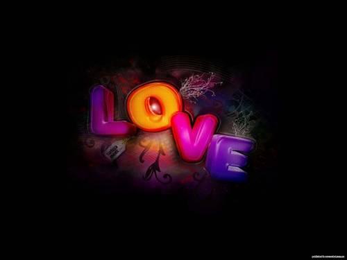 Обои любовь любовь на черном фоне