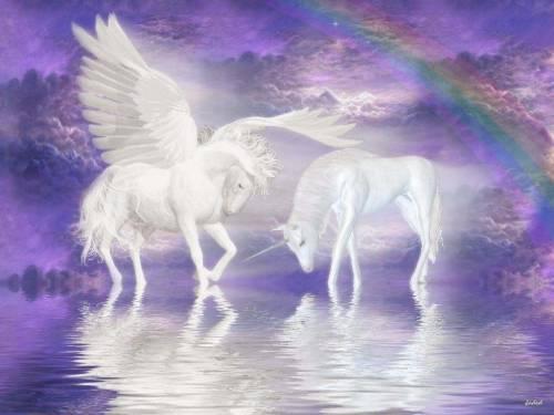 Обои для рабочего стола лошадь ангел