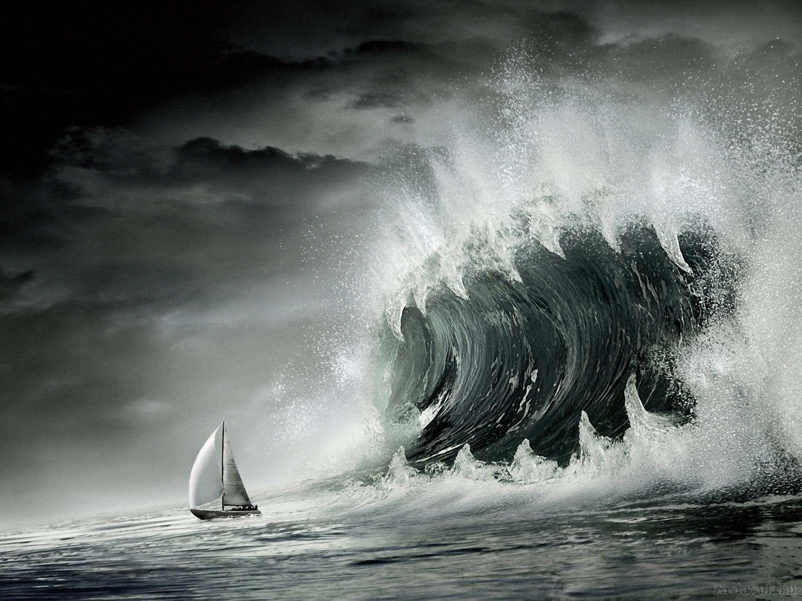 Огромная волна убийца