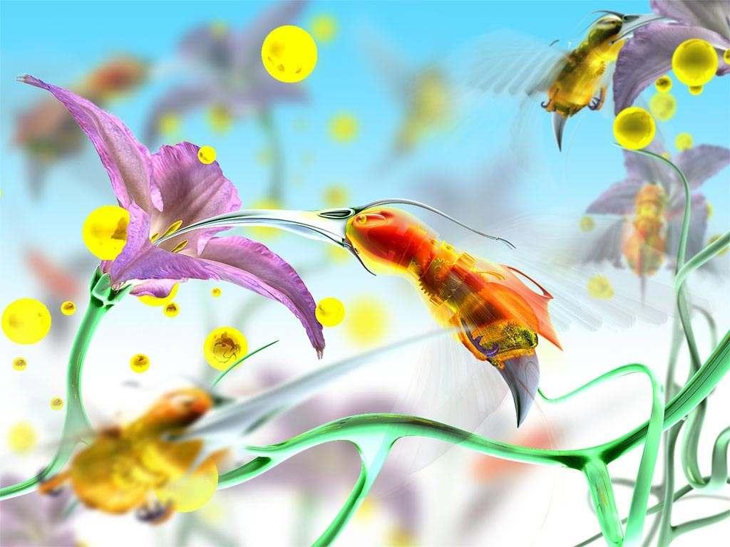 Пчела в цветке