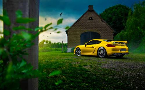 Porsche Cayman Gt4 Yellow - Автомобили