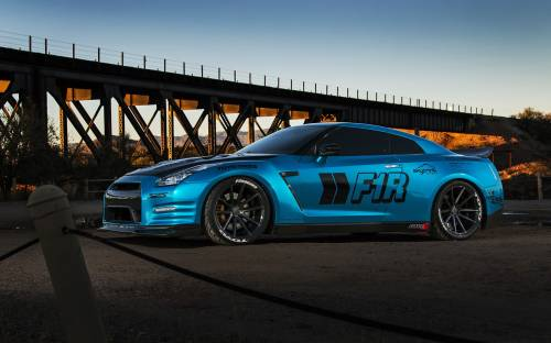 Nissan Gt-r Car Blue - Автомобили