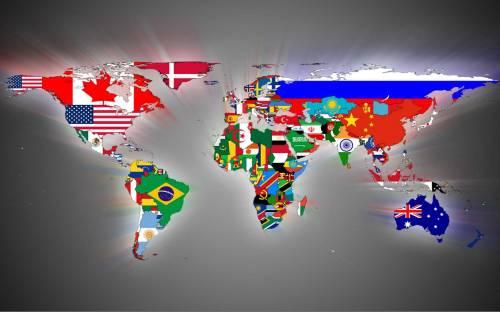 карта с флагами